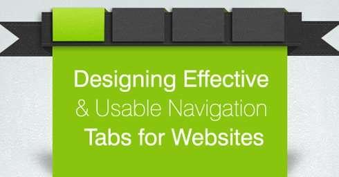 Designing Effective And Usable Navigation Tabs for Websites