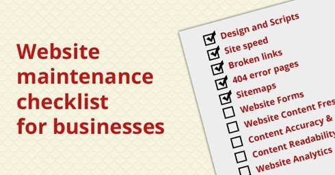 Website maintenance checklist for businesses