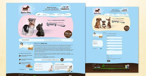 Dharne and Co designs website for Spago Dog