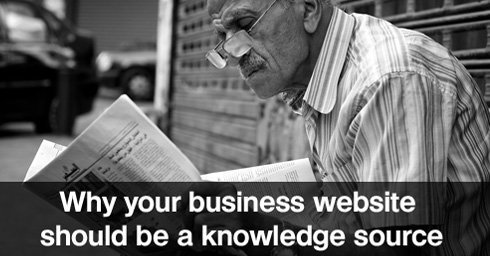 Why your business website a knowledge source