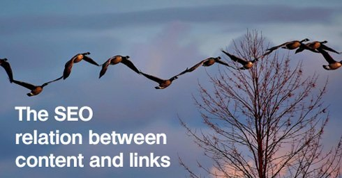 The SEO relation between content and links