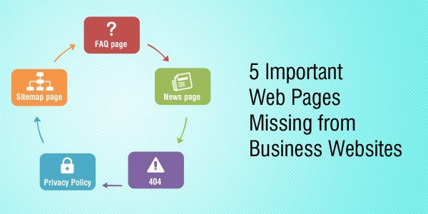 5 Important Web Pages Missing from Business Websites