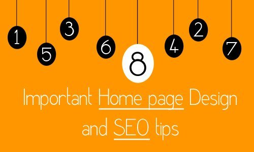Website Homepage Design and SEO tips