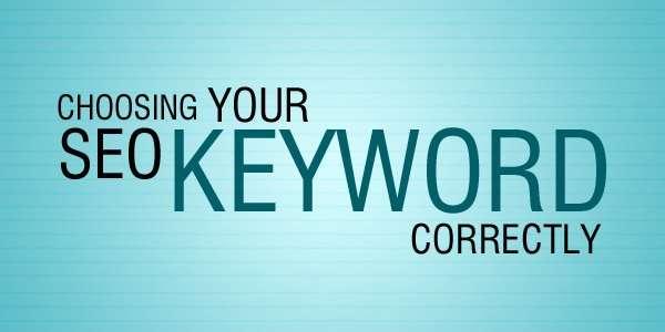 Choosing your SEO keywords correctly