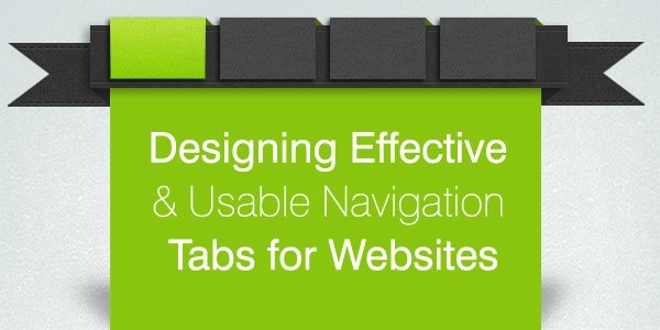 Designing navigation tabs for websites