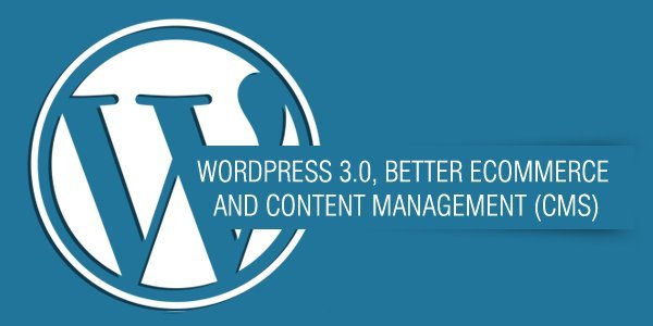 WordPress 3.0 better Ecommerce and CMS