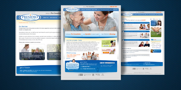 Dharne and Co redesigns website for Presidio Home Care